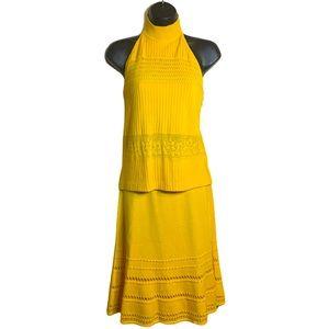 St. John Collection Yellow Top & Skirt Set Sz 4/6